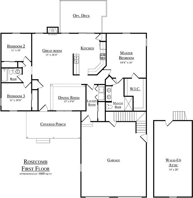 Rosecomb second floor