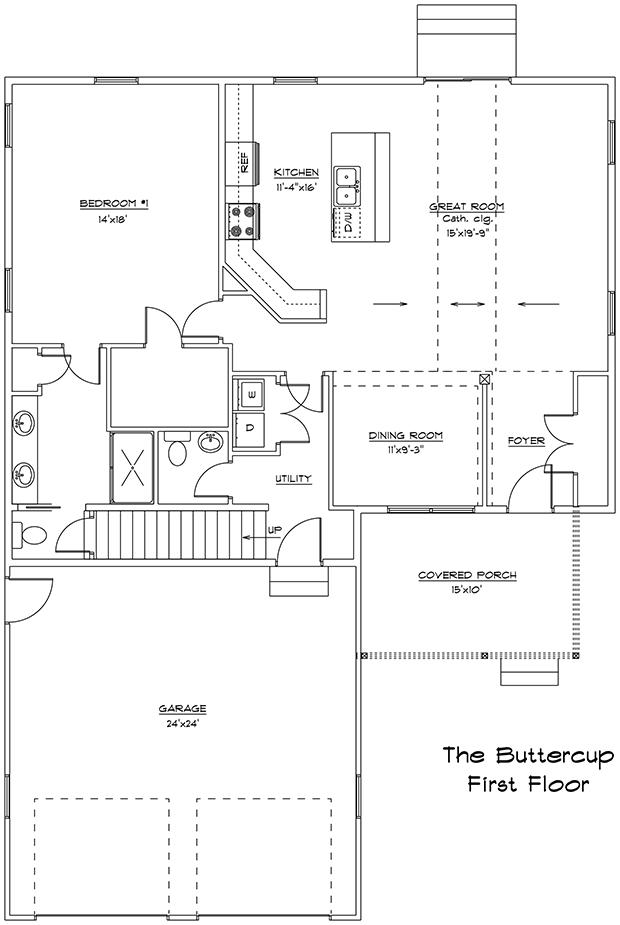 Buttercup 1st floor plan