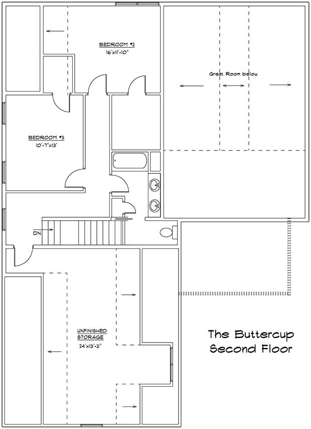 Buttercup 2nd floor plan