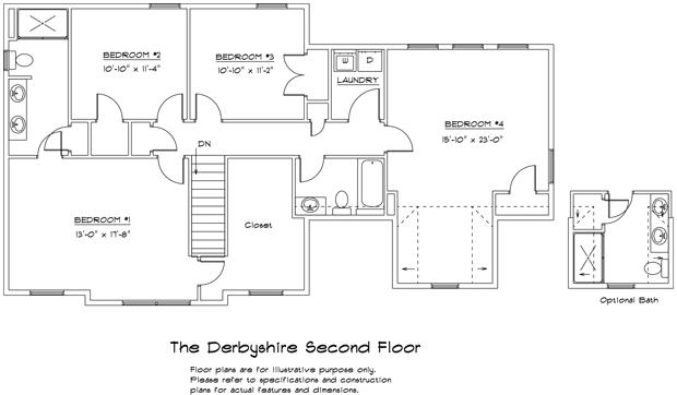 Derbyshire 2nd floor plan