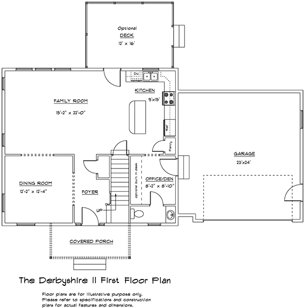 Derbyshire II 1st floor plan