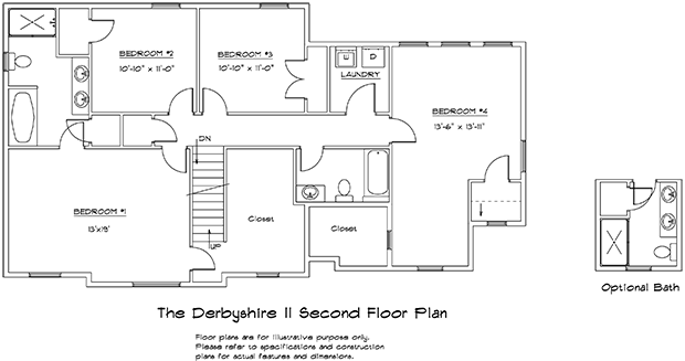 Derbyshire II 2nd floor plan