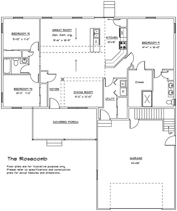 Rosecomb 1st floor plan