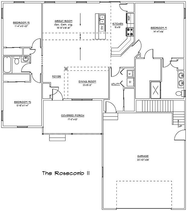 Rosecomb II 1st floor plan