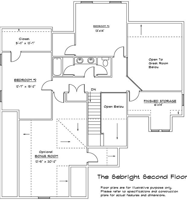 Sebright 2nd floor plan